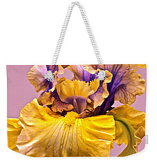 Spectacular Iris Close Up Weekender Tote Bag