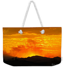 Weekender Tote Bag featuring the photograph Spectacular Nevada Sunset  by Phyllis Kaltenbach