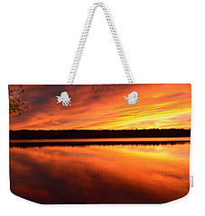 Weekender Tote Bag featuring the photograph Spectacular Orange Mirror by Cindy Greenstein