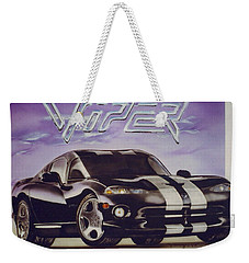 Weekender Tote Bag featuring the painting Speed At A Standstill by Thomas J Herring