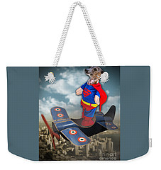 Weekender Tote Bag featuring the digital art Speedolini Flying High by Kathy Tarochione