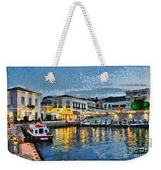 Spetses Town During Dusk Time Weekender Tote Bag