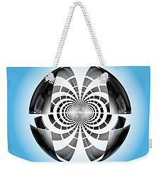 Weekender Tote Bag featuring the digital art Spheroid by GJ Blackman