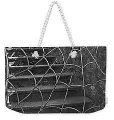 Spider And Web Iron Gate Art Prints Weekender Tote Bag by Valerie Garner
