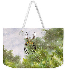 Spider In Web #2 Weekender Tote Bag