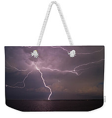 Spider Lightning Over Charleston Harbor Weekender Tote Bag