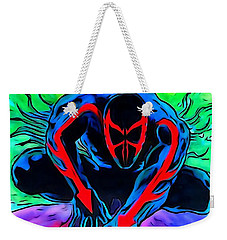 Spider-man 2099 Illustration Edition Weekender Tote Bag by Justin Moore