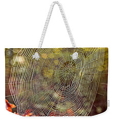 Spider Web Weekender Tote Bag by Edward Fielding
