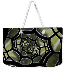 Weekender Tote Bag featuring the photograph Spider's Web. by Clare Bambers