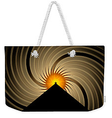 Weekender Tote Bag featuring the digital art Spin Art by GJ Blackman