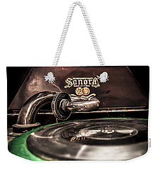 Spin That Record Weekender Tote Bag by Darcy Michaelchuk