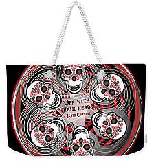 Spinning Celtic Skulls Weekender Tote Bag