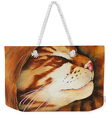 Spiral Cat Weekender Tote Bag