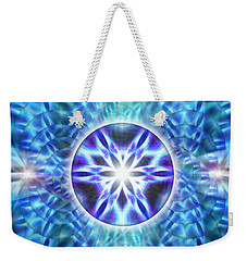 Weekender Tote Bag featuring the drawing Spiral Compassion by Derek Gedney