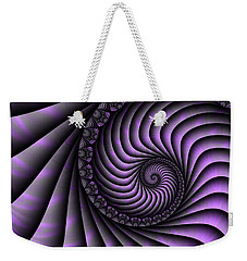 Spiral Purple And Grey Weekender Tote Bag by Gabiw Art