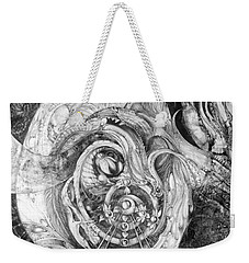 Weekender Tote Bag featuring the painting Spiral Rapture 2 by Otto Rapp