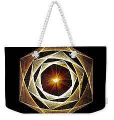 Weekender Tote Bag featuring the drawing Spiral Scalar by Jason Padgett