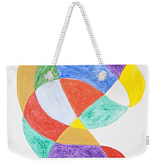Weekender Tote Bag featuring the painting Spiral Spacesuit by Stormm Bradshaw