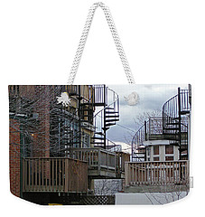 Weekender Tote Bag featuring the photograph Spiral Stairs by Brian Wallace