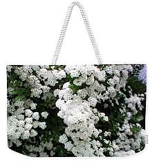 Spirea Bridal Veil Weekender Tote Bag by Barbara Griffin