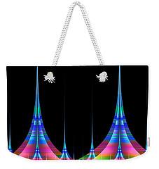 Weekender Tote Bag featuring the digital art Spires by GJ Blackman
