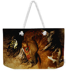 Weekender Tote Bag featuring the digital art Spirit Horse by Shanina Conway