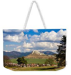 Weekender Tote Bag featuring the photograph Spissky Hrad - Castle by Les Palenik