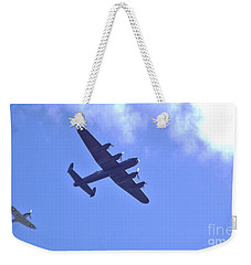 Spitfire  Lancaster Bomber Weekender Tote Bag by John Williams