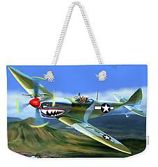 Spitfire Over Hawaii Weekender Tote Bag by Glenn Holbrook