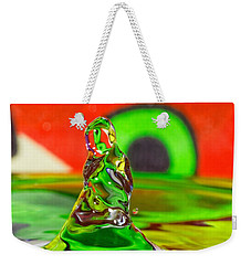 Weekender Tote Bag featuring the photograph Splas by Peter Lakomy