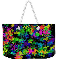 Weekender Tote Bag featuring the photograph Splatter by Mark Blauhoefer