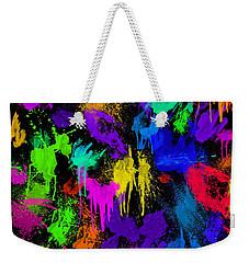 Splattered One Weekender Tote Bag