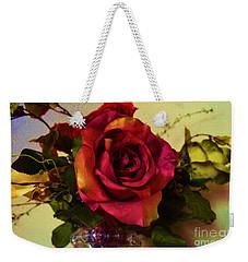 Splendid Painted Rose Weekender Tote Bag