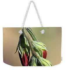 Weekender Tote Bag featuring the photograph Split Pea by Joy Watson