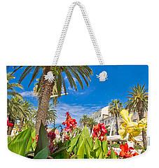 Split Riva Palms And Flowers Weekender Tote Bag
