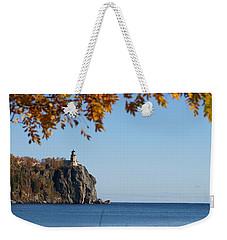 Split Rock Leaves Weekender Tote Bag by James Peterson
