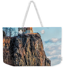Split Rock Lighthouse In Winter Weekender Tote Bag