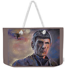 Weekender Tote Bag featuring the mixed media Spock by Peter Suhocke