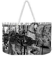 Weekender Tote Bag featuring the photograph Spokane Carousel by Jani Freimann