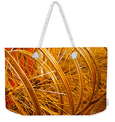 Spoke To Me Weekender Tote Bag by Cathy Dee Janes