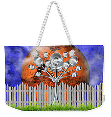 Weekender Tote Bag featuring the mixed media Spoon Tree by Ally  White