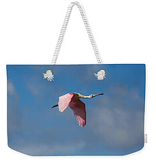 Weekender Tote Bag featuring the photograph Spoonie In Flight by John M Bailey