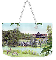 Sporting Clays At Seven Springs Mountain Resort Weekender Tote Bag by Albert Puskaric