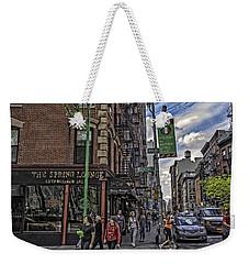 Spring And Mulberry - Street Scene - Nyc Weekender Tote Bag