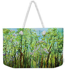 Spring Arpeggio Weekender Tote Bag by Regina Valluzzi