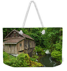 Spring At Cedar Creek Grist Mill Weekender Tote Bag by Patricia Davidson