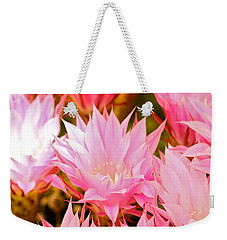 Spring Cactus Weekender Tote Bag by Michael Cinnamond