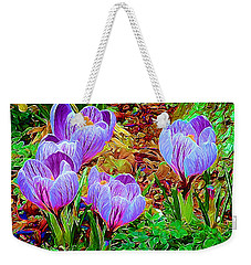 Spring Crocuses Weekender Tote Bag