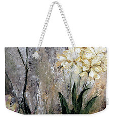 Weekender Tote Bag featuring the painting Spring Desert Flowers by Lisa Kaiser