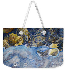 Weekender Tote Bag featuring the photograph Spring Drawing A Line In The Ice  by Brian Boyle